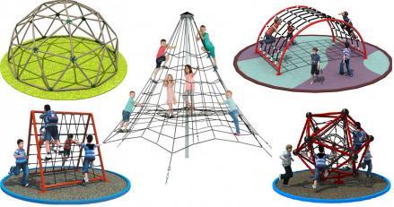 детски катерушки и въжени пирамиди