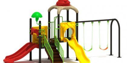 Детско съоръжение - външни пързалки и люлки 18200A